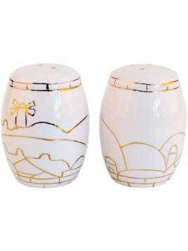 Set de Saliere et poivriere en Porcelaine Oren Design