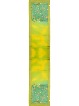 echarpe peint design de fleurs