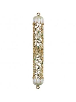 Boitier a Mezouza en cristal 12 cm ivoire
