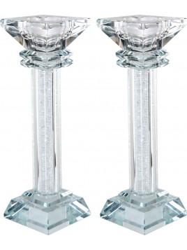 Chandelier de Chabbat en cristal 18 cm