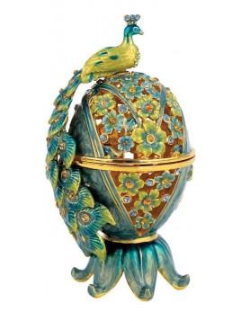 Paon a ensence Turquoise avec des pierre d'ambre