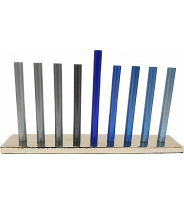Hannoukia Baton design tube 16cm Bleu