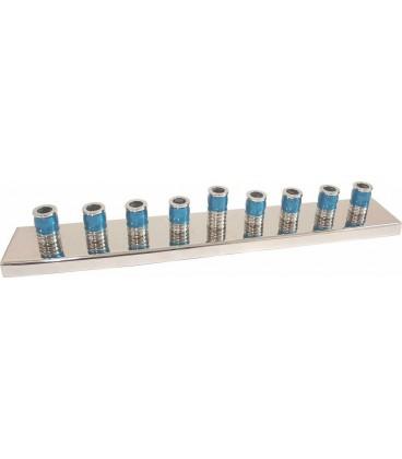 Channoukia design 30 cm émail bleu turquoise