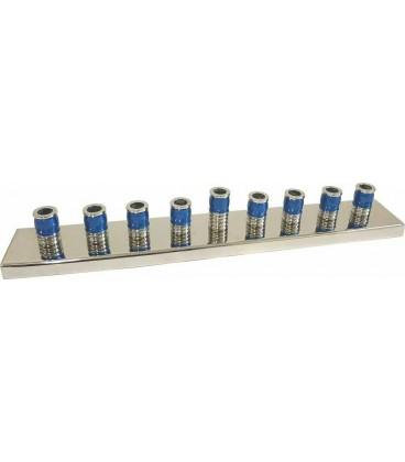 Channoukia design 30 cm émail argente bleu