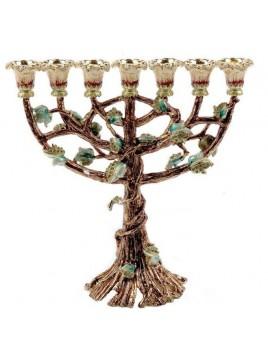 Menorah Pourme d'arbre marron