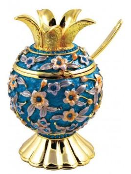 Pot a Miel en Pourme de Grenade Turquoise