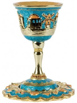 Coupe de Kiddouch + sous coupe Turquoise