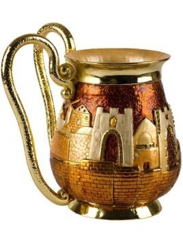 Recipient de Netilat Yadayim de luxe design Jerusalem Maron