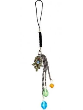 Porte cle decoratif pour Portable sertie de cristaux