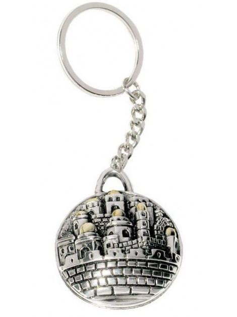 Porte cle Jerusalem plaque Plaque argent 925