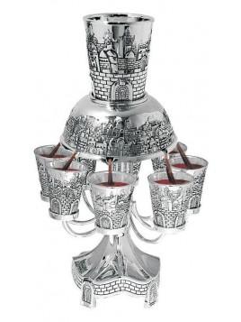 Fontaine a Vin 8 Gobelets Jerusalem Nickel