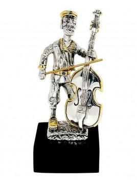Violoncelliste mini Plaque argent 925