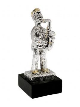 Trompetiste Mini Plaque argent 925