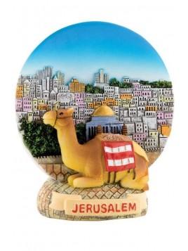 Aimant et stand Jerusalem camel et couleur