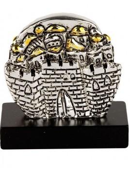 Mini Jerusalem Plaque argent