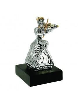 joueur de violon Sur toit Petit Plaque argent 925