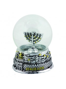 Boule de neige decoratif argente