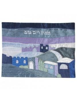 couvre pain en soie sauvage le soir sur Jerusalem
