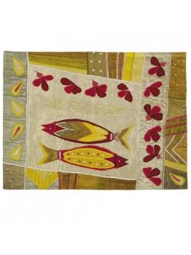 couvre pain en soie sauvage deux poissons d'or