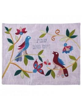 couvre pain en soie sauvage les colombes d'israel
