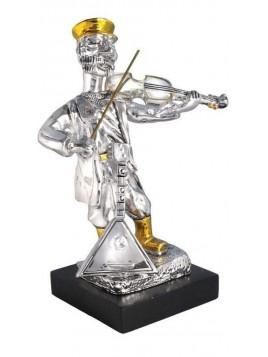 joueur de violon 17 cm Plaque argent 925
