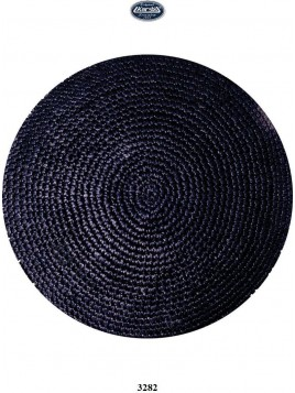 Kippa Cotton 16 cm Black
