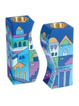 Bougeoirs tours-dansantes Jerusalem la nuit