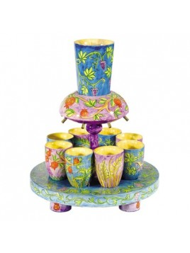 Fontaine a Kiddouch + 8 Petits verres Les 7 fruits