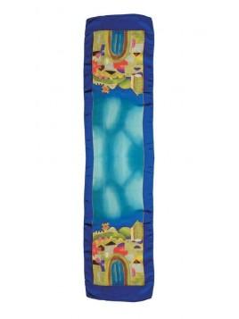 Echarpe Paint sur Design de Jerusalem bleu