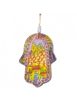 Glass Painted Hamsa