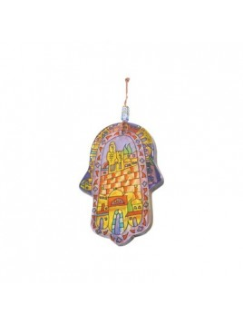 Small Glass Painted Hamsa