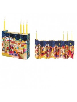 Accordion Hanukkah Menorah