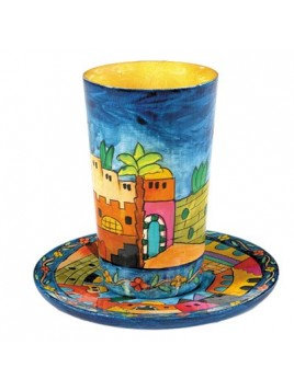 Kiddush Cup & Plate Set