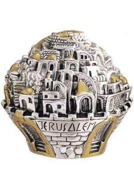 Balle sur theme Jerusalem Petit Plaque argent 925