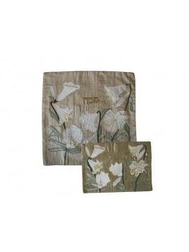 Couvre Afikoman Couture en soie sauvage