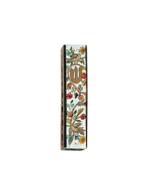 Boitier Mezouza en bois taille 12cm