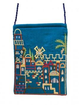 Porte-Passeport - Brodee Jerusalem Bleu