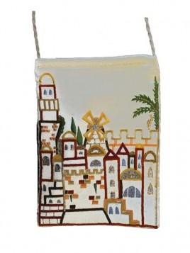 Porte-Passeport - Brodee Jerusalem Blanc