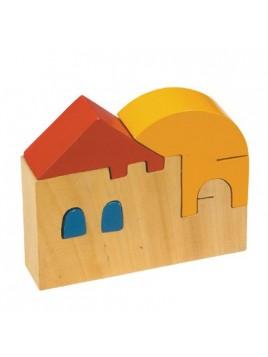 Puzzle en bois Petite taille Maison