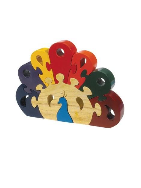 Puzzle en bois Grande taille Paon