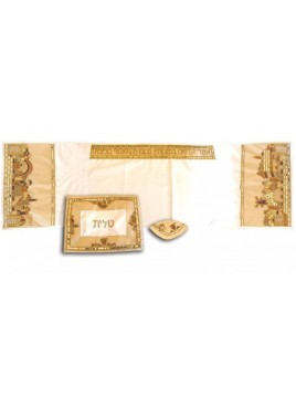Set Talith Design Jerusalem Or