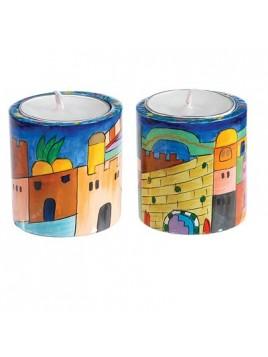 Round Small Candlesticks - Pair