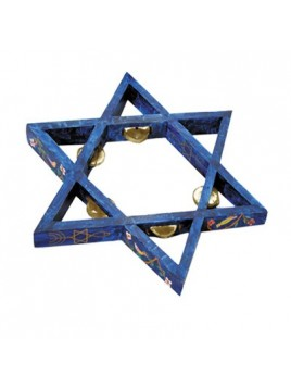 Star of David Tambourine - Painted