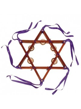 Star of David Tambourine - Plain