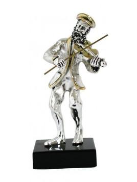joueur de violon Medium Plaque argent 925