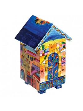 Boite de Tsedaka en forme de maison Jerusalem