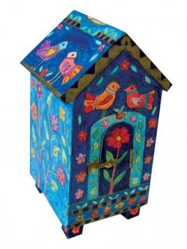 Boite de Tsedaka en forme de maison colombes