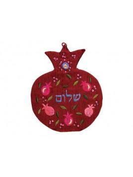 Tenture en forme de Grenade Shalom Hebreu