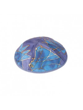 Silk Painted Kippah