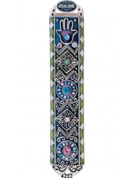 Boitier Mezouzah sertie de cristaux 10cm